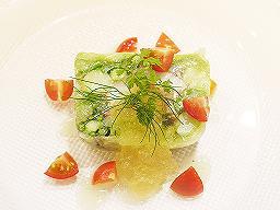 夏野菜と海老のテリーヌ.JPG
