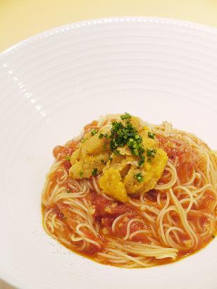 ファンゴッホトマトとウニの冷製カッペリーニ.JPG